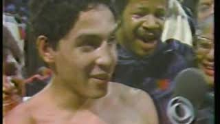 Photo of Boxing – 1983 – Tim Ryan PostFight Interview Of Winner Hector Camacho After His 1st Rnd KO Of Montes