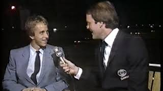 Photo of Cycling – 1985  – Tour De France – John Tesh PostRace Interview With 2nd Place USA Greg LeMond
