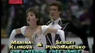 Photo of Figure Skating – 1986 – World Championship Ice Dance Comp – USSR Marina Klimova + Serei Ponomarenko