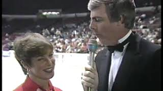Photo of Figure Skating – 1985 – Intro To ESPN Seiko Skate America Competition – With Jim Kelly + Judy Sladky