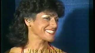 Photo of Body Building – 1985 – I F B B Womens World Championship – Featuring Vera Bendel – With Bruce Jenner