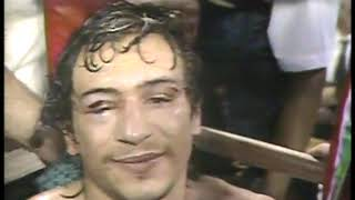 Photo of Boxing – 1984 – Al Bernstein PostFight Interview New Champ Livingstone Bramble + Trainer Lou Duva After Beating Mancini