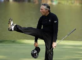 Photo of Golf – 1985 – Masters Tournament – CBS Brent Musburger Interview With Golf Legend Gary Player