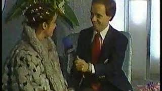 Photo of Figure Skating – 1987 – European Championships – Scott Hamilton Interviews Winner DDR Katarina Witt