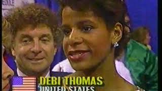 Photo of Figure Skating – 1987 – Judy Blumberg Interview USA Debi Thomas After DDR Katarina Witt Wins Worlds