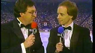 Photo of Figure Skating – 1987 – Tim Ryan + Scott Hamilton Introduction To 1987 Womens World Championships