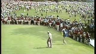 Photo of Golf – 1986 – Kemper Open – Sudden Death 3rd Hole – Larry Mize + Greg Norman – With Pat Summerall