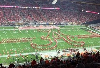 Photo of Music – 1982 – Cotton Bowl Halftime Show – Alabama Marching Band – During Texas Vs Alabama Game