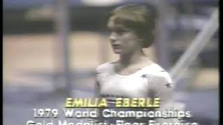 Photo of Gymnastics – 1980 – Exhibition In NYC – Womens Floor Exercise – ROM Emilia Eberle – With Jim McKay