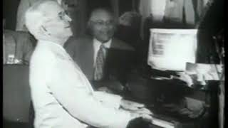 Photo of Music – 1954 – POTUS Harry Truman – Plays Piano To Hail Hail The Gangs All Here With Union Chief