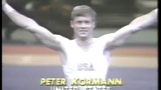 Photo of Gymnastics – 1980 – Exhibition In NYC – Mens Floor Exercise Finals – USA Peter Kormann