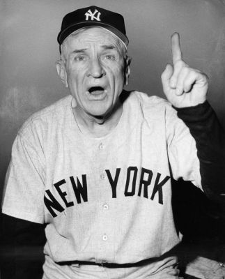 "Photo of L E's Stories – ""Never Let A Losing Pitcher Drive The Bus—Especially A Left-Hander"" – Our Tribute To Yankee Manager Casey Stengel + Stengel-ese"