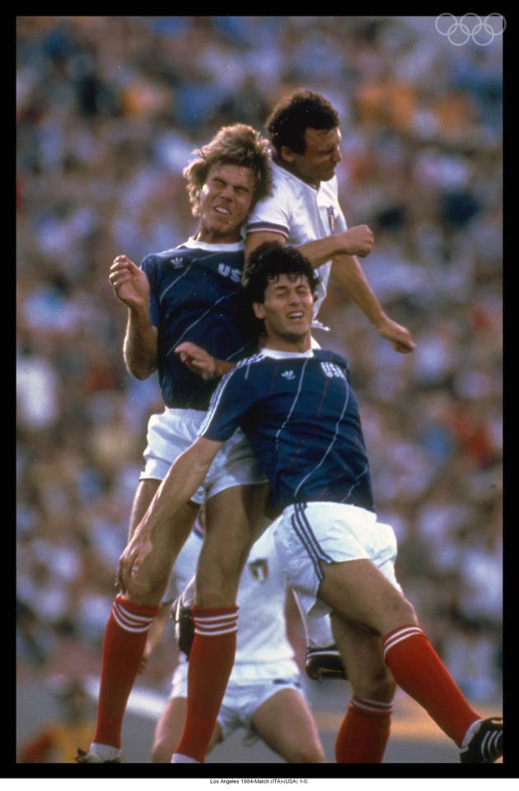 """Photo of L E's Stories – 1984 – L A Olympics Futbol Group D Play With USA Vs Italy – """"A Scapter's Paradise With Only 63,000 Fans At The Rose Bowl"""""""""""