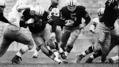 "Photo of L E's Stories – ""The Golden Boy From The Shadow Of The Golden Dome Goes On To Play For The Green & Gold"" – The Story of Paul Hornung"